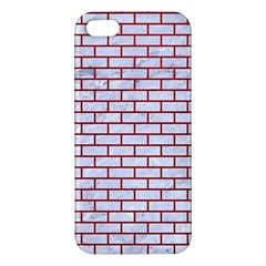Brick1 White Marble & Red Leather (r) Iphone 5s/ Se Premium Hardshell Case by trendistuff