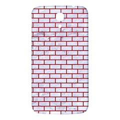 Brick1 White Marble & Red Leather (r) Samsung Galaxy Mega I9200 Hardshell Back Case by trendistuff