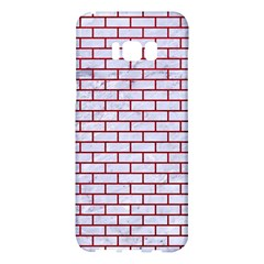 Brick1 White Marble & Red Leather (r) Samsung Galaxy S8 Plus Hardshell Case