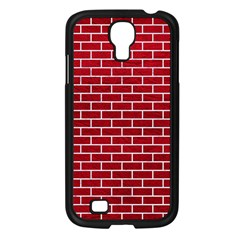 Brick1 White Marble & Red Leather Samsung Galaxy S4 I9500/ I9505 Case (black) by trendistuff
