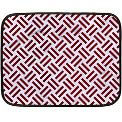 Woven2 White Marble & Red Grunge (r) Fleece Blanket (mini) by trendistuff