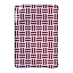 Woven1 White Marble & Red Grunge (r) Apple Ipad Mini Hardshell Case (compatible With Smart Cover) by trendistuff