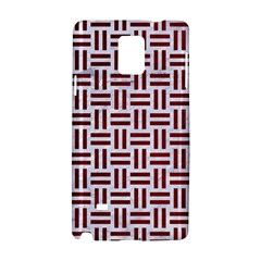 Woven1 White Marble & Red Grunge (r) Samsung Galaxy Note 4 Hardshell Case by trendistuff