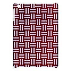 Woven1 White Marble & Red Grunge Apple Ipad Mini Hardshell Case by trendistuff
