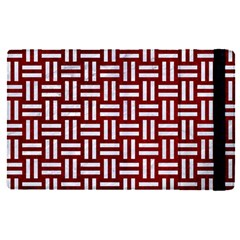 Woven1 White Marble & Red Grunge Apple Ipad Pro 9 7   Flip Case by trendistuff