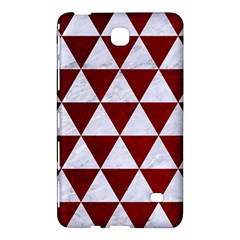 Triangle3 White Marble & Red Grunge Samsung Galaxy Tab 4 (8 ) Hardshell Case