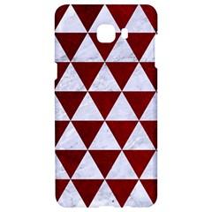 Triangle3 White Marble & Red Grunge Samsung C9 Pro Hardshell Case  by trendistuff