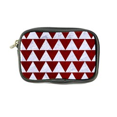 Triangle2 White Marble & Red Grunge Coin Purse by trendistuff