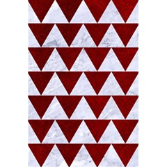 Triangle2 White Marble & Red Grunge 5 5  X 8 5  Notebooks by trendistuff