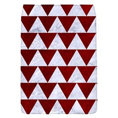 Triangle2 White Marble & Red Grunge Flap Covers (s)