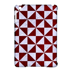 Triangle1 White Marble & Red Grunge Apple Ipad Mini Hardshell Case (compatible With Smart Cover) by trendistuff