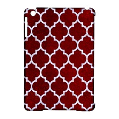 Tile1 White Marble & Red Grunge Apple Ipad Mini Hardshell Case (compatible With Smart Cover) by trendistuff