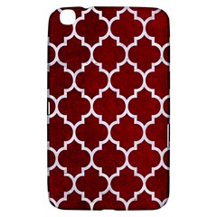 Tile1 White Marble & Red Grunge Samsung Galaxy Tab 3 (8 ) T3100 Hardshell Case  by trendistuff