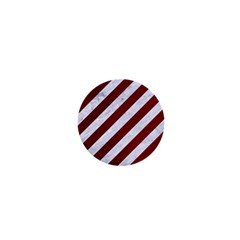 Stripes3 White Marble & Red Grunge (r) 1  Mini Buttons