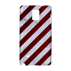 Stripes3 White Marble & Red Grunge (r) Samsung Galaxy Note 4 Hardshell Case by trendistuff