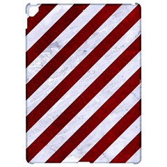 Stripes3 White Marble & Red Grunge (r) Apple Ipad Pro 12 9   Hardshell Case by trendistuff