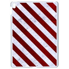 Stripes3 White Marble & Red Grunge Apple Ipad Pro 9 7   White Seamless Case by trendistuff