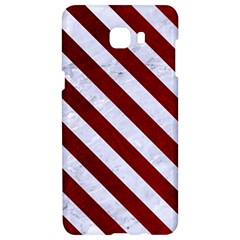 Stripes3 White Marble & Red Grunge Samsung C9 Pro Hardshell Case  by trendistuff