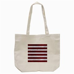 Stripes2white Marble & Red Grunge Tote Bag (cream) by trendistuff