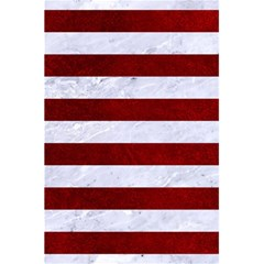 Stripes2white Marble & Red Grunge 5 5  X 8 5  Notebooks