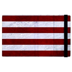 Stripes2white Marble & Red Grunge Apple Ipad Pro 9 7   Flip Case