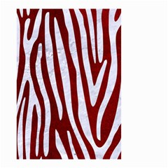 Skin4 White Marble & Red Grunge (r) Small Garden Flag (two Sides) by trendistuff