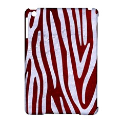 Skin4 White Marble & Red Grunge (r) Apple Ipad Mini Hardshell Case (compatible With Smart Cover) by trendistuff