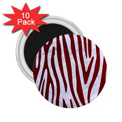 Skin4 White Marble & Red Grunge 2 25  Magnets (10 Pack)  by trendistuff