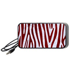 Skin4 White Marble & Red Grunge Portable Speaker by trendistuff