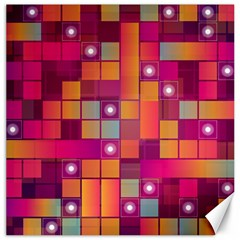 Abstract Background Colorful Canvas 12  X 12
