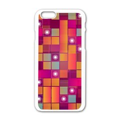 Abstract Background Colorful Apple Iphone 6/6s White Enamel Case by Sapixe