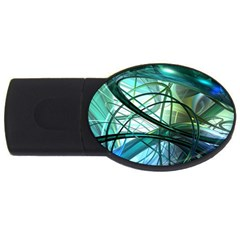 Abstract Usb Flash Drive Oval (4 Gb)