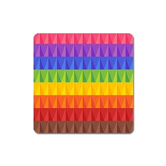 Abstract Pattern Background Square Magnet by Sapixe