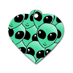 Alien Dog Tag Heart (one Side) by Sapixe
