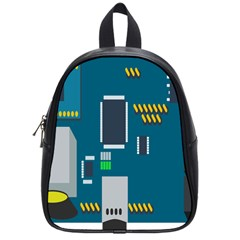 Amphisbaena Two Platform Dtn Node Vector File School Bag (small) by Sapixe