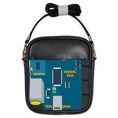 Amphisbaena Two Platform Dtn Node Vector File Girls Sling Bags by Sapixe