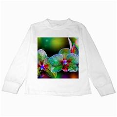 Alien Orchids Floral Art Photograph Kids Long Sleeve T Shirts