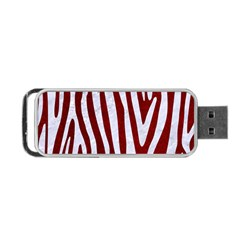 Skin3 White Marble & Red Grunge (r) Portable Usb Flash (two Sides) by trendistuff