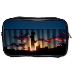 Art Sunset Anime Afternoon Toiletries Bags 2 Side
