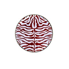 Skin2 White Marble & Red Grunge (r) Hat Clip Ball Marker (10 Pack) by trendistuff