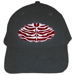 Skin2 White Marble & Red Grunge Black Cap by trendistuff