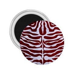 Skin2 White Marble & Red Grunge 2 25  Magnets by trendistuff
