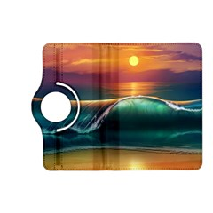Art Sunset Beach Sea Waves Kindle Fire Hd (2013) Flip 360 Case by Sapixe