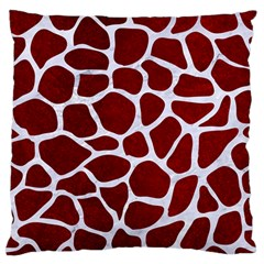 Skin1 White Marble & Red Grunge (r) Standard Flano Cushion Case (one Side) by trendistuff