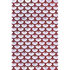 Scales3 White Marble & Red Grunge (r) 5 5  X 8 5  Notebooks by trendistuff