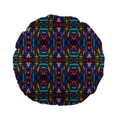 Colorful 23 1 Standard 15  Premium Flano Round Cushions