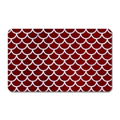 Scales1 White Marble & Red Grunge Magnet (rectangular) by trendistuff