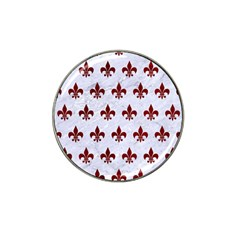 Royal1 White Marble & Red Grunge Hat Clip Ball Marker by trendistuff
