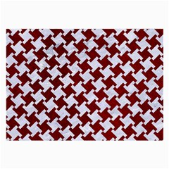 Houndstooth2 White Marble & Red Grunge Large Glasses Cloth (2 Side) by trendistuff