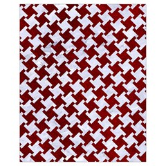 Houndstooth2 White Marble & Red Grunge Drawstring Bag (small) by trendistuff